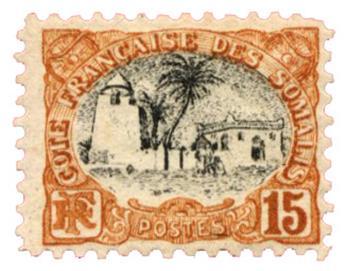 n°58* - Timbre COTE DES SOMALIS Poste