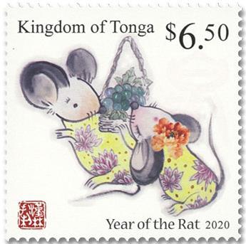 n° 1562/1563 - Timbre TONGA Poste