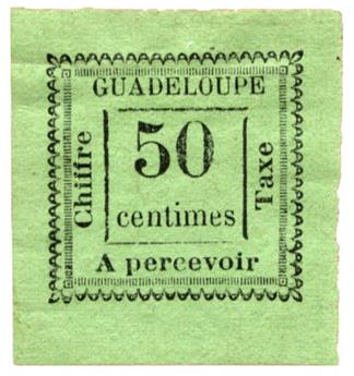 n°12* - Timbre GUADELOUPE Taxe