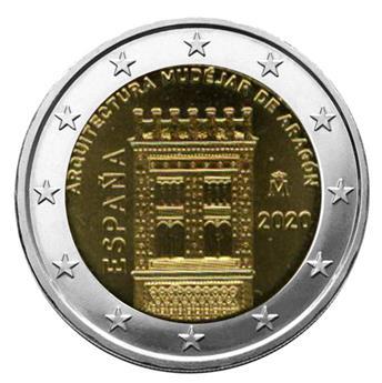 2 EURO COMMEMORATIVE 2020 : ESPAGNE (ARCHITECTURE MUDEJARE D´ARAGON)