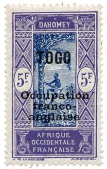 n°100* - Timbre TOGO Poste