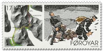 n° 975/976 - Timbre ILE FEROE Poste