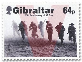 n° 1951/1955 - Timbre GIBRALTAR Poste