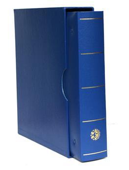 FUTURA Classique (Album pour timbres à anneaux) : étui + reliure (Bleu)