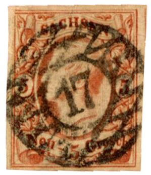 n°11 obl. - Timbre ALLEMAGNE SAXE Poste