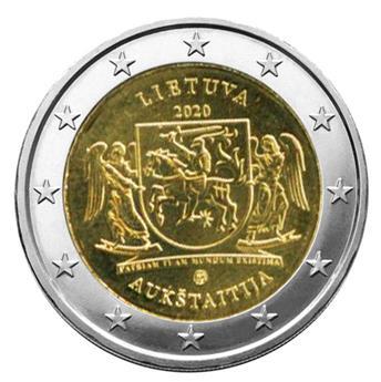 2 EURO COMMEMORATIVE 2020 : LITUANIE (Région historique de Aukstaitija)