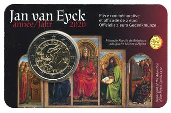 BU : 2 EURO COMMEMORATIVE 2020 : BELGIQUE - JAN VAN EYCK (Version francophone)