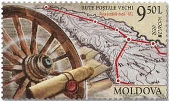 n° 988/989 - Timbre MOLDAVIE Poste