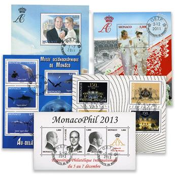 Monaco: BF n°100, 101 + n°F2883, F2887, F2903 obl.