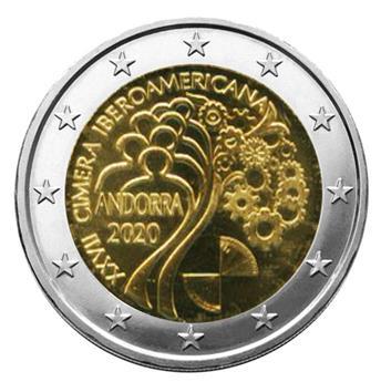BU : 2 EURO COMMEMORATIVE 2020 : ANDORRE (XVII Sommet Ibérico-Americain à Andorre)