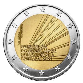 2 EURO COMMEMORATIVE 2021 : PORTUGAL (Présidence du conseil de l´Union Européenne)