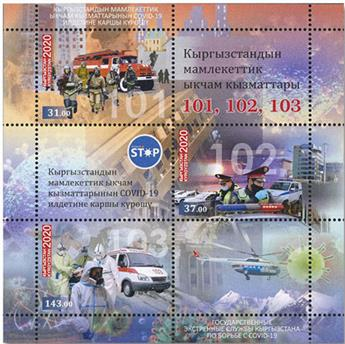 n° 95 - Timbre KIRGHIZISTAN (Poste Kirghize) Blocs et feuillets