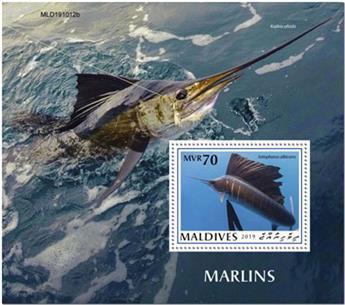 n° 1407 - Timbre MALDIVES Blocs et feuillets