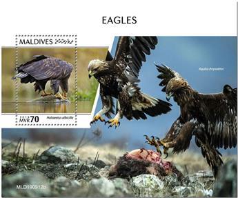 n° 1422 - Timbre MALDIVES Blocs et feuillets