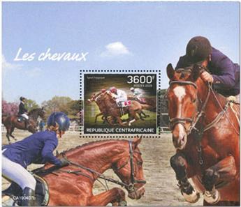n° 1461 - Timbre CENTRAFRICAINE Blocs et feuillets