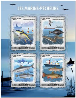 n° 6601/6604 - Timbre CENTRAFRICAINE Poste