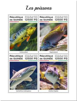 n° 10275/10278 - Timbre GUINEE Poste