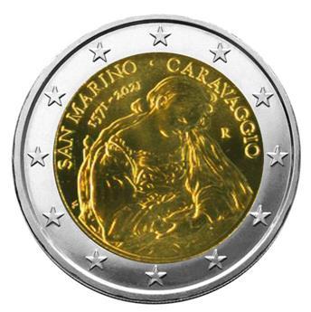 BU : 2 EURO COMMEMORATIVE 2021 : SAINT-MARIN (450 ans de Caravage)
