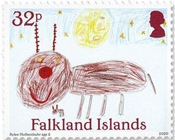 n° 1352/1355 - Timbre FALKLAND Poste