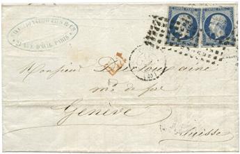 France : n°14Aa obl. sur lettre