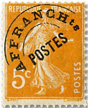 n° 50 - Timbre France Préoblitérés