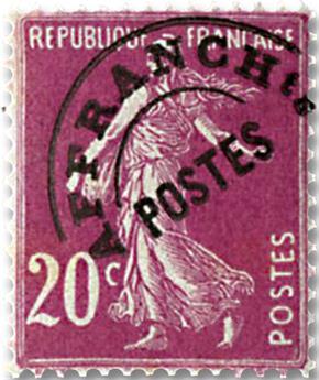 n° 55 -  Selo França Pré-obliterados