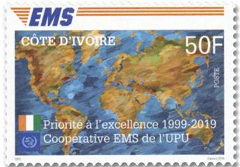 n° 1382/1384 - Timbre COTE D´IVOIRE Poste