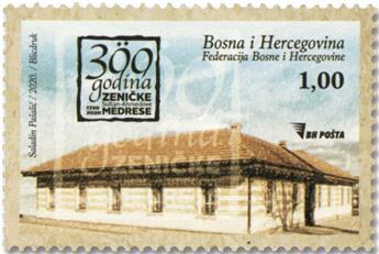 n° 842 - Timbre BOSNIE-HERZEGOVINE Poste