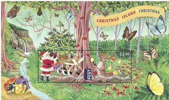 n° 73 - Timbre CHRISTMAS (ILE) Blocs et feuillets