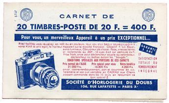 n°1011B-C23** - Timbre FRANCE Carnets
