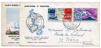 n°36 et 38/39  - Timbre SAINT PIERRE ET MIQUELON Poste Aérienne