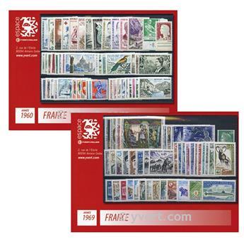 nr. 1008/1049 -  Stamp France Year set (1955)