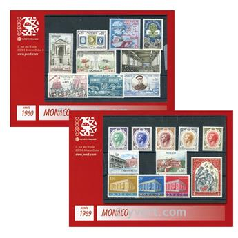 n° 1960-1969 -  Selo Mónaco Ano completo