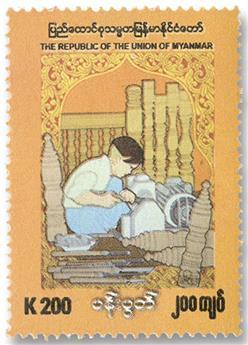 n° 415 - Timbre BIRMANIE Poste