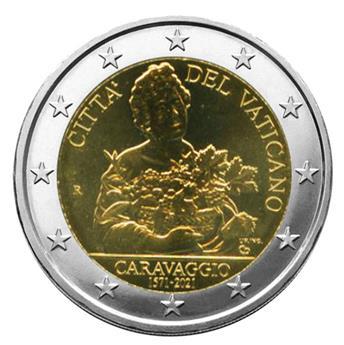 BU : 2 EURO COMMEMORATIVE 2021 : VATICAN (450 ans de la naissance de Caravage)