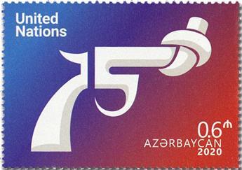 n° 1250 - Timbre AZERBAIDJAN Poste