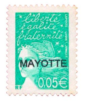 n°114a** - Timbre MAYOTTE Poste