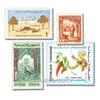 TÚNEZ: lote de 200 sellos