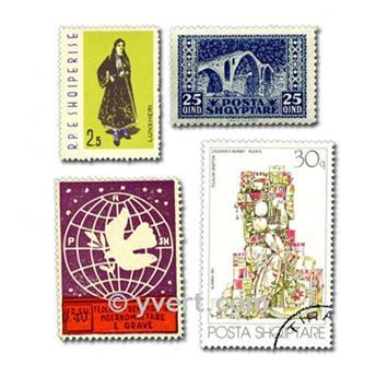 ALBÂNIA: lote de 300 selos