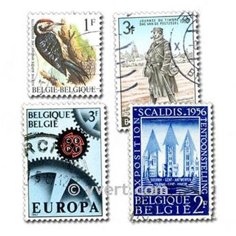 BÉLGICA: lote de 100 sellos