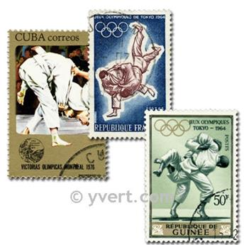 JUDO: envelope of 25 stamps