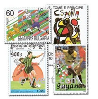 FUTEBOL: lote de 300 selos