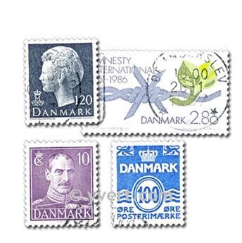 DANEMARK : pochette de 400 timbres
