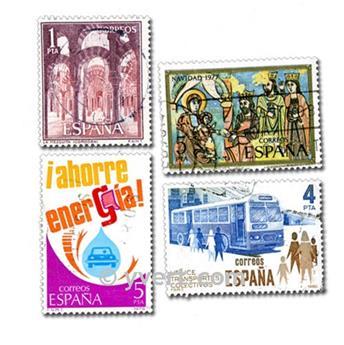 ESPAÑA: lote de 100 sellos