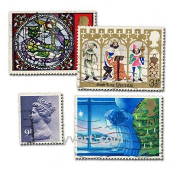 GREAT BRITAIN: envelope of 200 stamps
