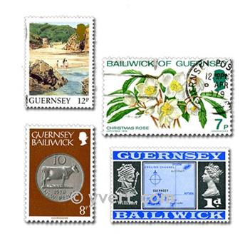 GUERNSEY: envelope of 50 stamps