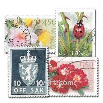 NORUEGA: lote de 300 sellos