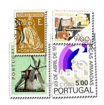 PORTUGAL : pochette de 200 timbres