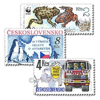 CHECOSLOVAQUIA: lote de 200 sellos