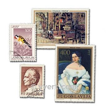 YUGOSLAVIA: lote de 500 sellos